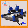 TYE-1530-2 double heads stone cnc engraving machine for working two materials at same time