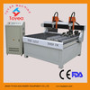 Latest 1820 two head tombstone carving machine with pully heavy duty cnc router machineTYE-1820-2