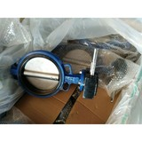 Wafer butterfly valve with pin