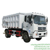 10CBM Dongfeng 4x2 180 hp garbage dumpster truck for sale