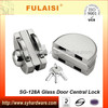 Fulaisi Durable Magnetic Center Lock for 12mm Glass Door Lock