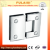 FULAISI Heavy Polished Brass Glass Shower Door Hinge with 180 Degree Opening