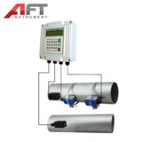 clamp-on wallmounted ultrasonic flow meter
