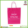 red kraft paper bag shopping paper bag
