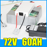 72V 60AH Lithium Battery Pack , 84V 4000W Electric bicycle Scooter solar energy Battery , Free BMS Charger