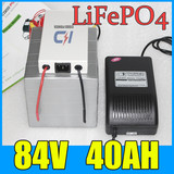 84V 40AH LiFePO4 Battery Pack ,3000W Electric bicycle Scooter lithium battery + BMS + Charger
