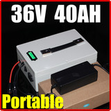 36V 40AH Portable multifunction Lithium Battery Pack , 42V 1600W Electric bicycle Scooter solar energy battery
