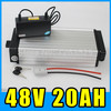 48V 20AH Electric bicycle Rear rack Lithium Battery , Aluminum alloy Battery Pack , 54.6V 1000W Scooter E-bike