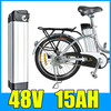 48V 15AH Lithium Battery , Aluminum alloy Battery Pack , 54.6V Electric bicycle Scooter E-bike