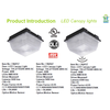 New cULus and DLC Listed 40W LED Canopy Light Slim Lens with Sensor