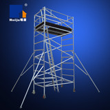 Double Width Scaffolding with Inclined Ladder