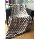 BLANKET/ Back printed flannel fleece with cutting heart design blanket/polyester blanket