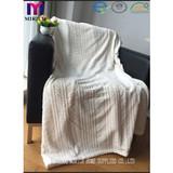 BLANKET/Burn out flannel fleece blanket/polyestr blanket