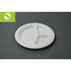 9 inch disposable biodegradable with 3 department plate