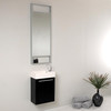 15.5 inch Pulito Small Modern Bathroom Vanity with Tall Mirror