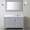 42 inch Single Taupe Grey Bathroom Vanity Set with Mirror