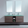 Unique 60 inch Modern Double Sink Bathroom Vanity