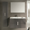 39 inch Modern Wall Mount Bathroom Vanity Grey Finish