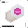 380g Premium 100% Triple Primed Cotton Hexagon Shape 3.8cm Spruce Slim Profile Paint Stretched Canvases Frames for Decoration