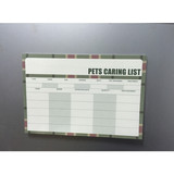 pet caring list