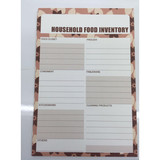 Household food inventory list magnet memo planner sticker offset paper
