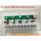 PVC Sleeve Mounted SMD aluminum electrolytic capacitor small size