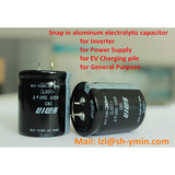 YMIN Snap-in Horn Type Aluminum electrolytic capacitor SHN3 super high voltage 630V for power supply