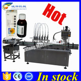Shanghai factory syrup filling machine,alcohol filling capping machine 60ml
