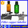 Hot sale bottle filling capping and labeling machine,30ml glass bottle filling capping machine
