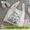 100% Cotton Simple Canvas Shopping Bag,Portable Folding Shopping Bag