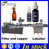 USA Love filling capping and labeling machine 30 ml,ejuice filling sealing machine