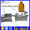Hot sale vial cleaning filling capping machine,50ml liquid filler