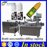 Shanghai top supplier auto ejuice liquid labeling filling machine,bottling line