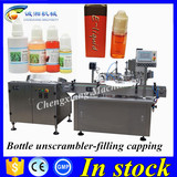 Shanghai top supplier e-liquid filling plugging capping machine,bottling line