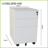 white metal mobile filing cabinet