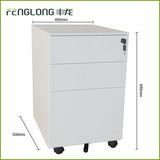white metal mobile filing cabinet