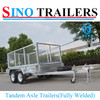 Tandem Axle Cage Trailer-Fully Welded