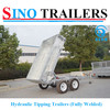 2 Tonne Hydraulic Tipping Box Trailer-Fully Welded
