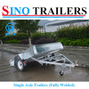 Galvanized Box Golf Cart Trailer for Australia Maket