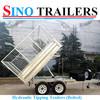 Galvanized Tandem Axle Utility Dump Trailer
