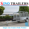 6X4 Galvanized Single Axle Box Trailer with Cage