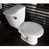 two piece siphonic jet toilet
