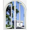 Steel casement windows design swing opening pvc casement window