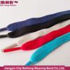 Custom design pure color flat cotton shoelace