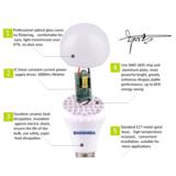 super bright led bulb E27 3W-12W plastic +aluminum bulb wide voltage