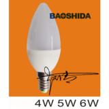 4W 5W 6W C37 E27/E14 plastic led bulbs 12 v