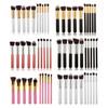 10pcs Wooden Handle Material Face Use Kabuki Makeup Brush Set For Beauty Makeup