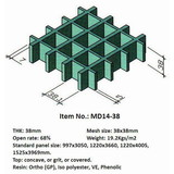 Fiberglass grating 38x38mm mesh size outdoor anti corrosion frp grid