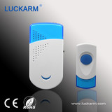 Battery powered wireless doorbell with 32 ringtones waterproof doorbell
