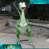Static Fiberglass Cartoon Dinosaur for Decoration